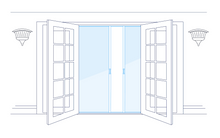 Load image into Gallery viewer, Phantom Double-French Door Screen