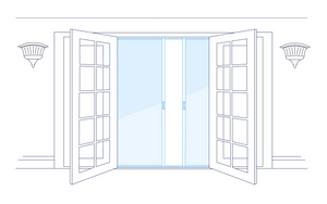 Phantom Double-French Door Screen