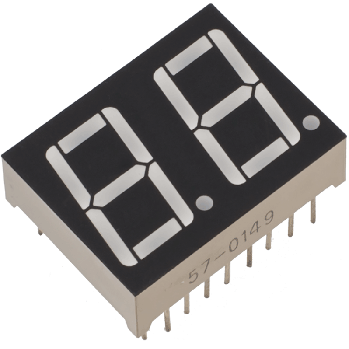 2-Digit 7 Segment 14mm Ortak Anot Display