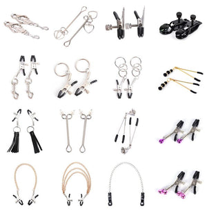 1 Pair Metal Bell Nipple Clamps With Chain Clips Flirting Teasing Sex Flirt Bondage Kit Slave Bdsm Exotic Accessories - Pleasure Sexual