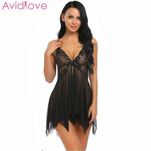 Avidlove Women Sexy Lingerie Babydoll Floral Lace Patchwork - Pleasure Sexual