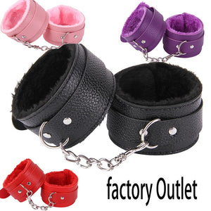 Bondage Handcuffs & Ankle Cuffs Kit BDSM Bondage Flirting Sex Toys For Adults Couples Slave Restraints Games Erotic Accessories - Pleasure Sexual