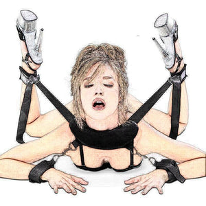 Bondage Handcuffs&Neck Pillow&Ankle Cuff BDSM Bondage Set Flirting Sex Toys For Woman Couple Slave Restraints Erotic Accessories - Pleasure Sexual