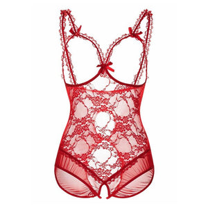 S- 6XL Hot Erotic Lace Lingerie for Women Sexy Underwear Porn Babydoll Dress Open Bra Crotch Sexy Lingerie Teddy Plus Size - Pleasure Sexual