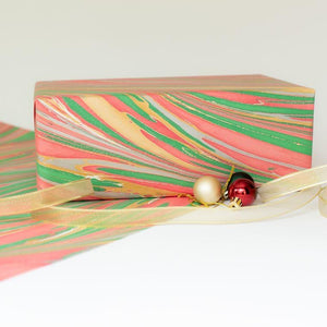 Tree-free Hand-marbled Gift Wrap
