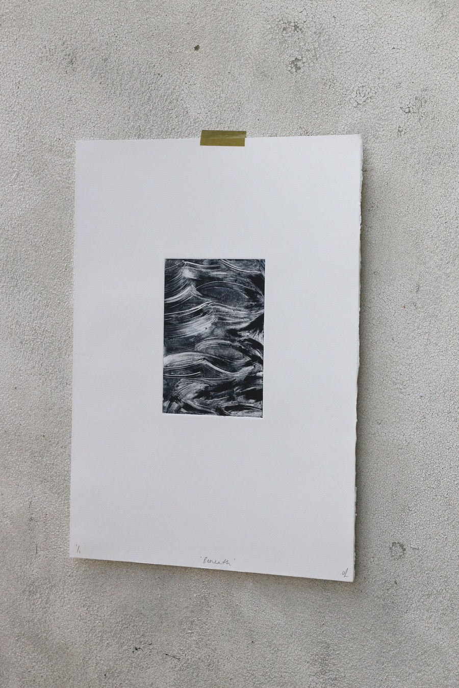 'Beneath' A3 Monotype Artwork