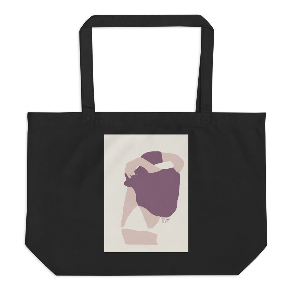 'Treasured' Large Organic Tote Bag