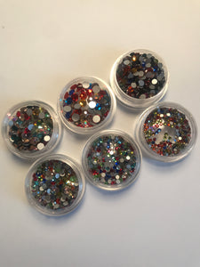 Flat Back Multicolor Crystal Set