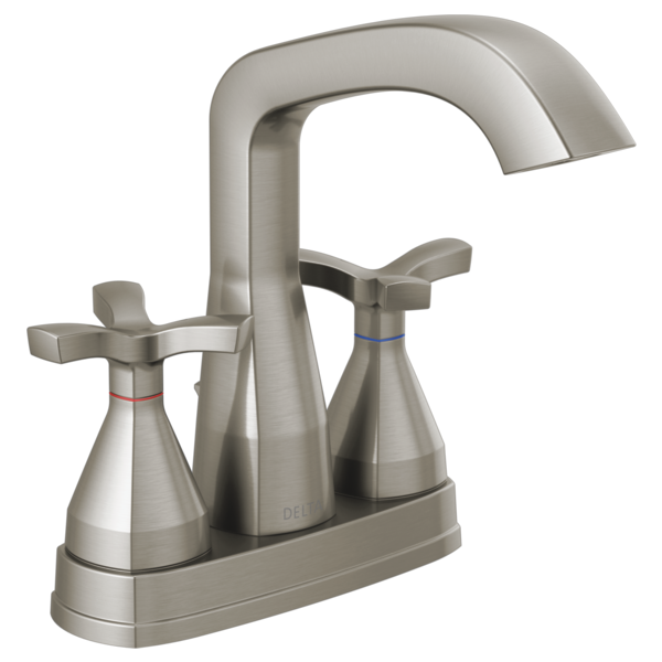 Delta 257766-MPU-DST Stryke 1.2 GPM Centerset Bathroom Faucet- Brushed Nickel - NewBathroomFaucets.com