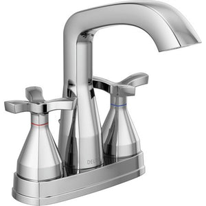 Delta 257766-MPU-DST Stryke 1.2 GPM Centerset Bathroom Faucet- Chrome - NewBathroomFaucets.com