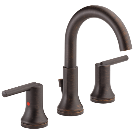 Delta Faucet 3559-RBMPU-DST Trinsic, Widespread Bath Faucet with metal pop-up, Venetian Bronze - NewBathroomFaucets.com