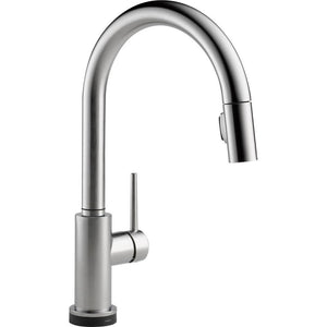 Delta Faucet 9159T-AR-DST Trinsic Single Handle Pull-Down Kitchen Faucet Featuring Touch2O Technology, Arctic Stainless - NewBathroomFaucets.com