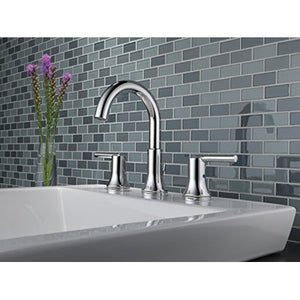 Delta Faucet 3559-MPU-DST Trinsic, Widespread Bath Faucet with metal Pop-Up, Chrome - NewBathroomFaucets.com