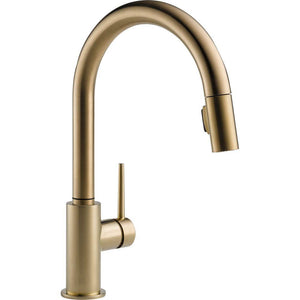 Delta 9159-CZ-DST Single Handle Pull-Down Kitchen Faucet, Champagne Bronze - NewBathroomFaucets.com