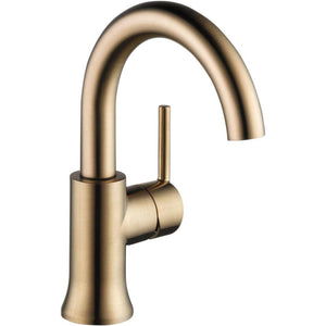 Delta Faucet 559HA-CZ-DST Trinsic, Single Handle High-Arc Lavatory, Champagne Bronze - NewBathroomFaucets.com