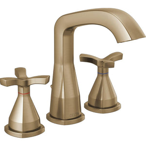 Delta Stryke 8 in. Widespread 2-Handle Bathroom Faucet in Champagne Bronze - NewBathroomFaucets.com