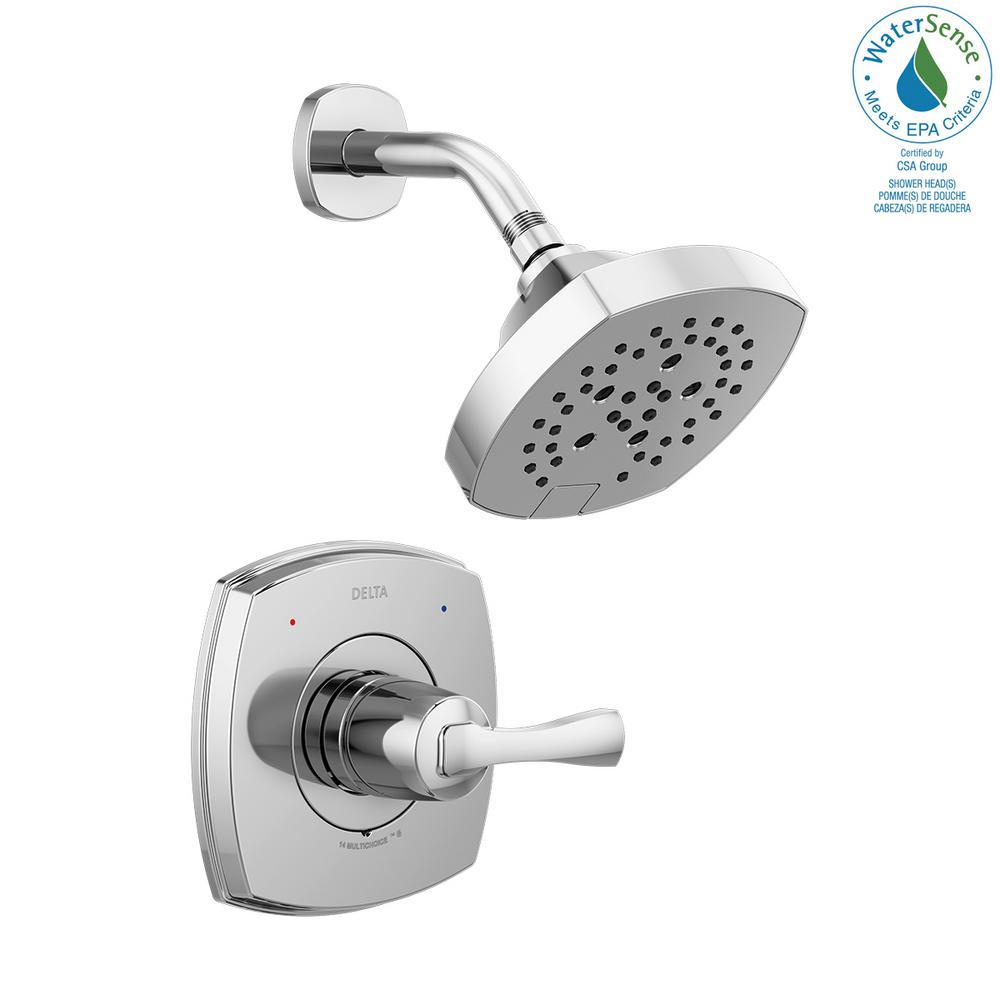 Delta T14276 Stryke Monitor 14 Series Single Function Pressure Balanced Shower Only Chrome (Valve not Included) - NewBathroomFaucets.com