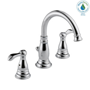 Delta Porter 8 in. Widespread 2-Handle Bathroom Faucet in Chrome - NewBathroomFaucets.com