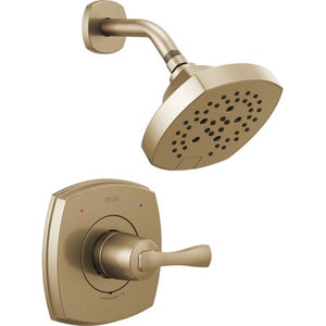 Delta T14276 Stryke Monitor 14 Series Single Function Pressure Balanced Shower Only Champaign Bronze (Valve Not Included) - NewBathroomFaucets.com