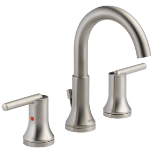 Delta Faucet 3559-SSMPU-DST Trinsic, Widespread Bath Faucet with metal pop-up, Stainless - NewBathroomFaucets.com