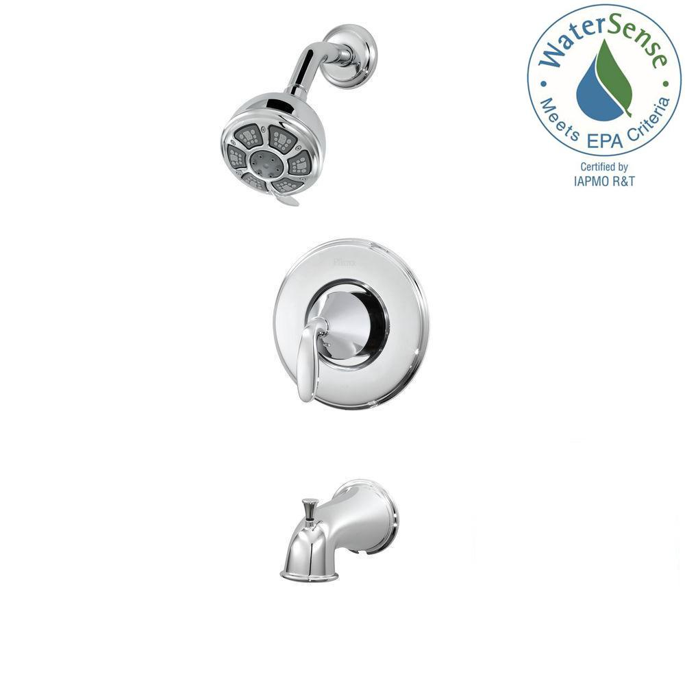 Pfister Pasadena Single-Handle 3-Spray Tub & Shower Faucet in Polished Chrome (Valve Included) - NewBathroomFaucets.com