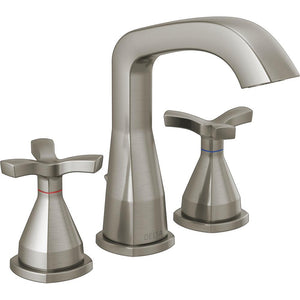 Delta 357766-MPU-DST Stryke 1.2 GPM Widespread Bathroom Faucet Brushed Nickel - NewBathroomFaucets.com