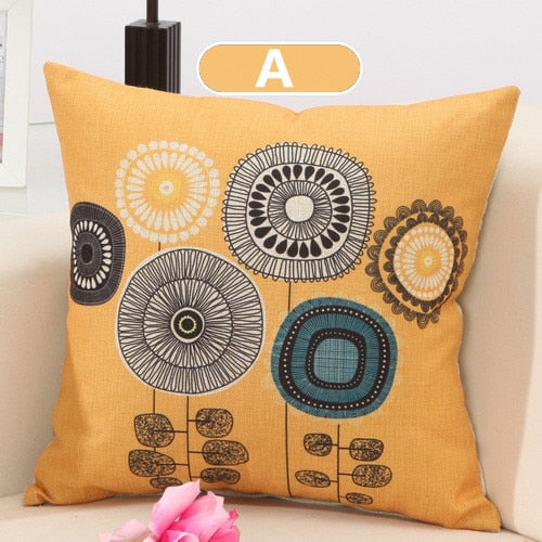 Flower Pattern Cushion Pillow