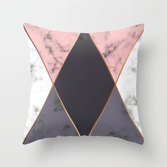 Marble Geometric Cushion Pillow
