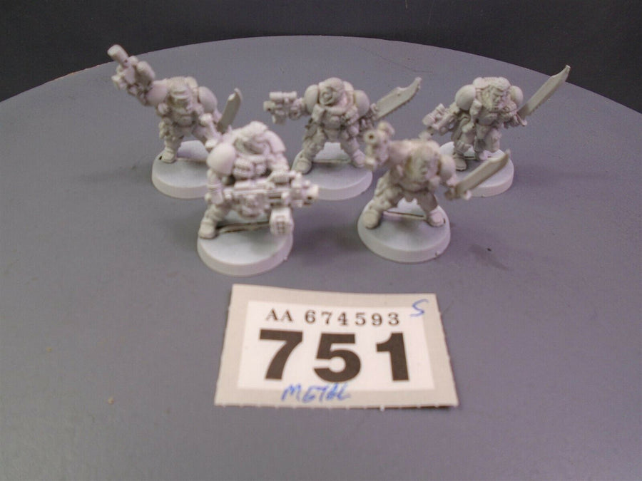 Space Marines Metal Scouts with Heavy Bolter Squad 751