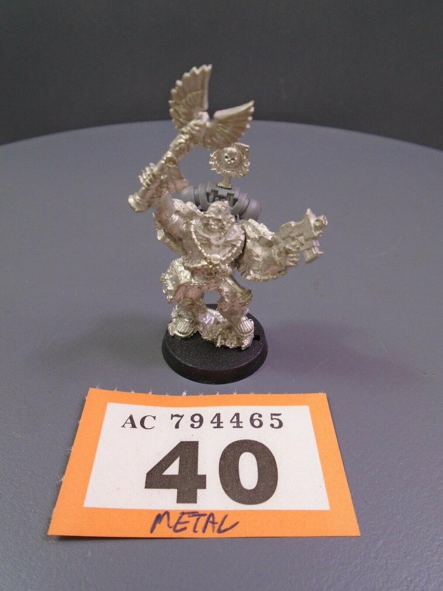 Space Marines Metal Metal Chaplain Cassius 40