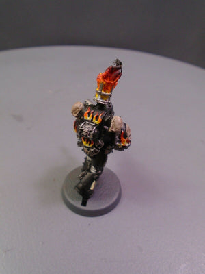 Space Marines Metal Legion of the Damned Legionnaire Flamer 659