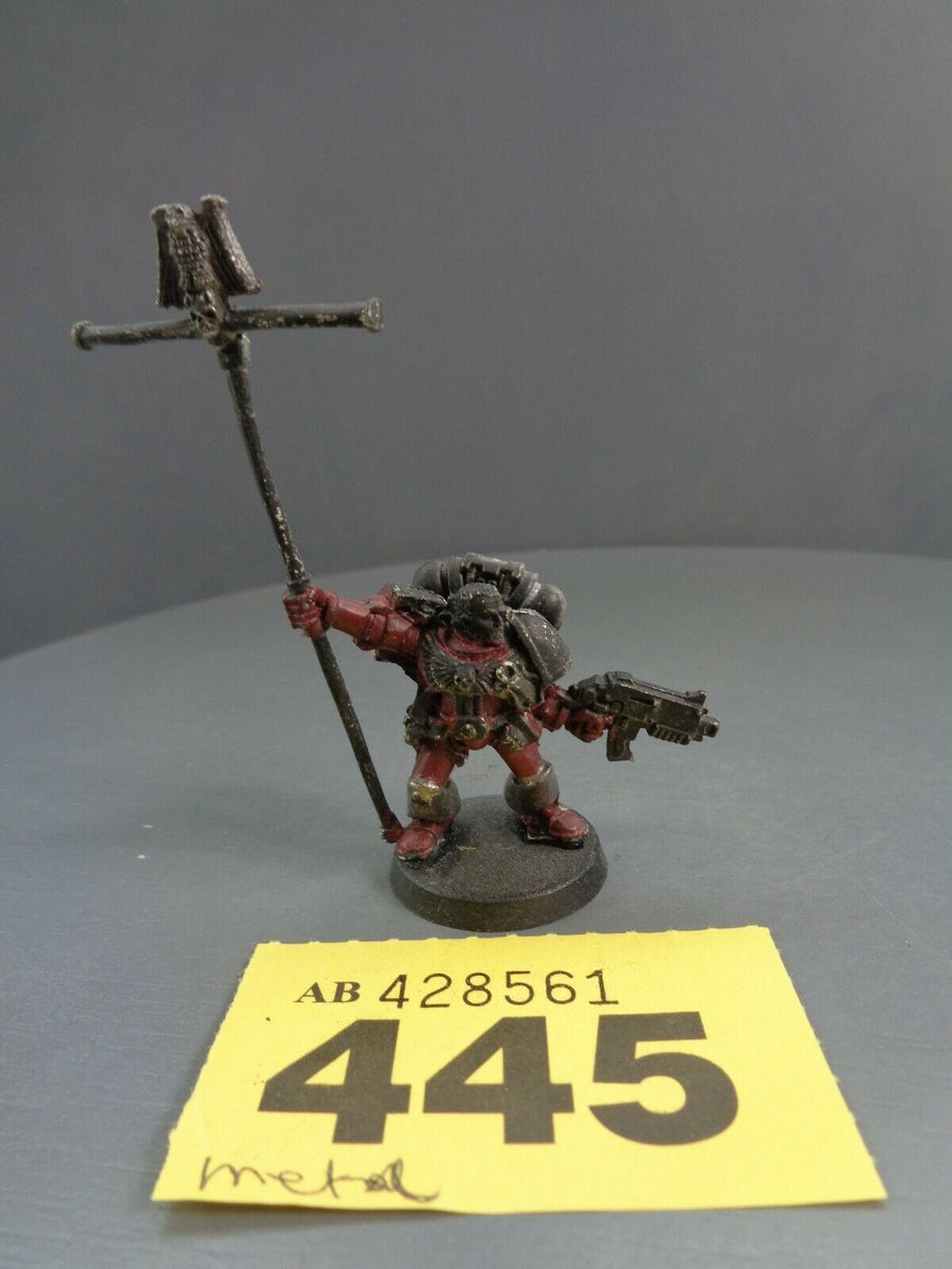 Space Marines Metal Ancient Company Standard 445