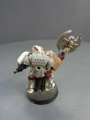 Space Marines Metal Vet Veteran Sergeant with Power Axe 444