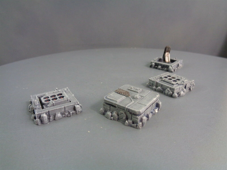 Warhammer Epic 40,000 Metal Buildings Radar Bunker Missile Silos 224