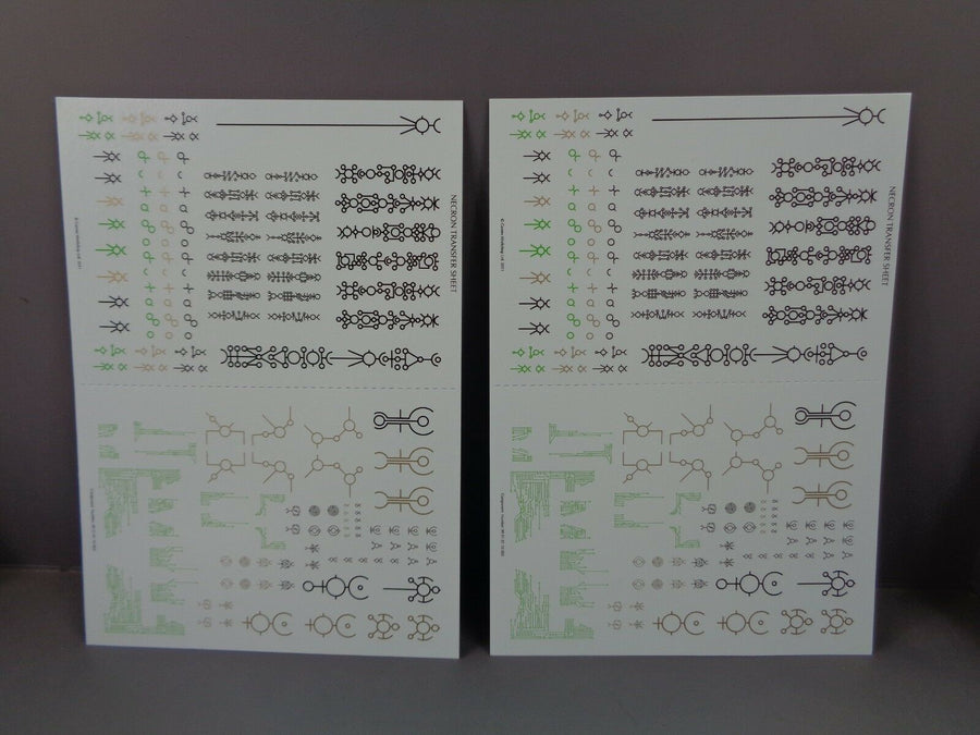 2 Necrons Transfer Sheets