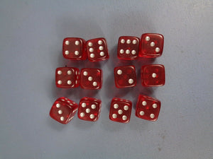 Dark Imperium Red D6 Dice Set of 12