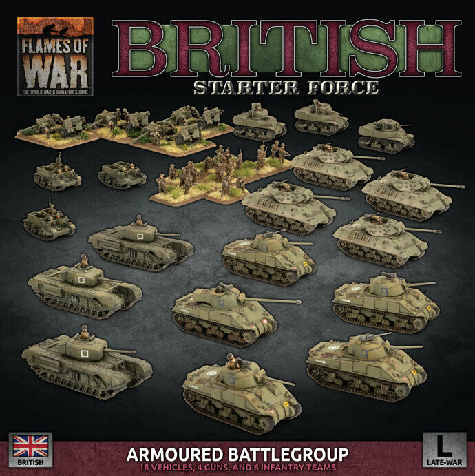 Flames of War BNIB British Starter Force (Armoured Battlegroup) BRAB12