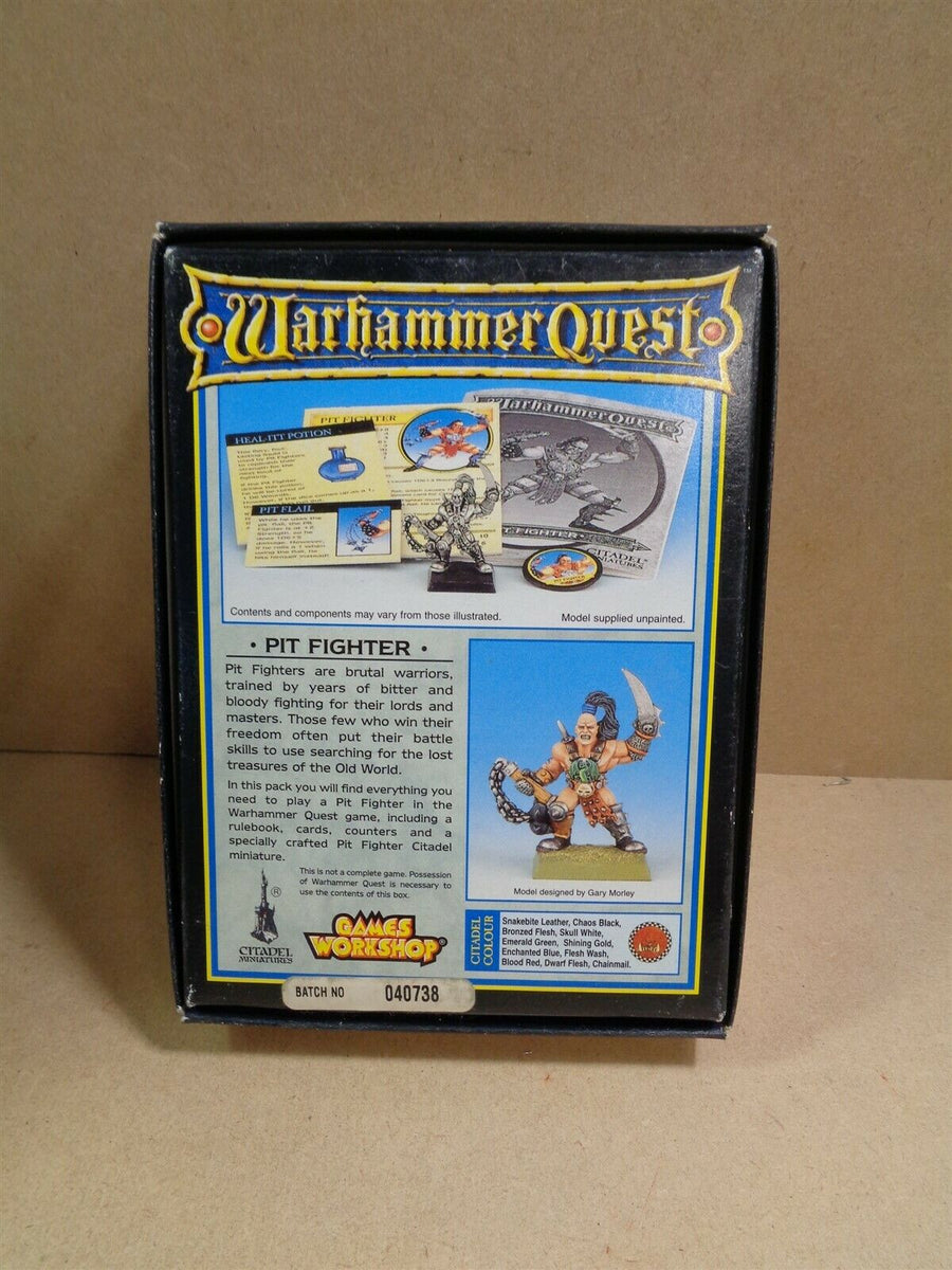 Games Workshop Warhammer Quest Age of Sigmar Pit fighter with box 822
