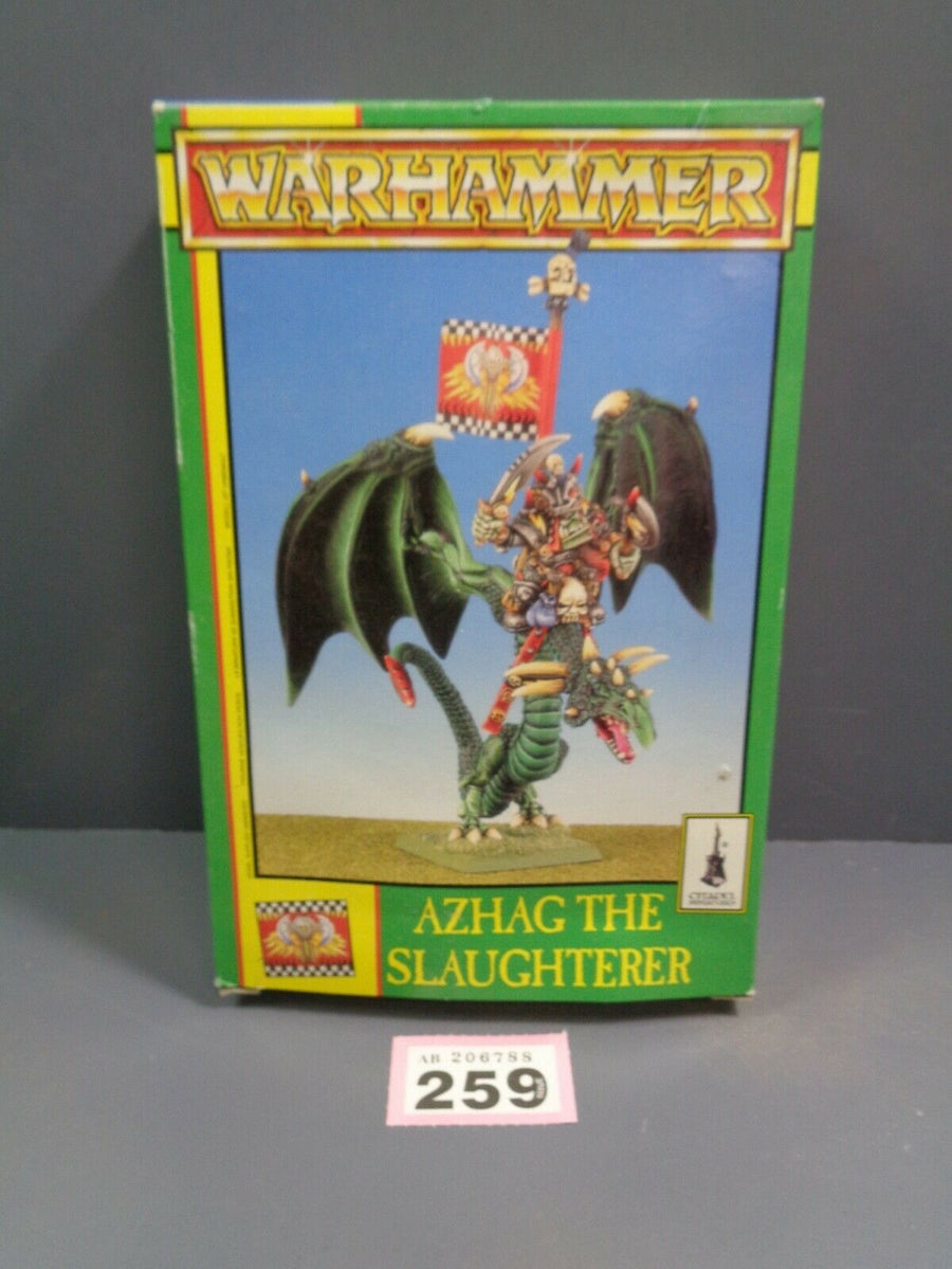 Warhammer Age of Sigmar Orruks Orcs Azhag the Slaughterer Wyvern in box 259