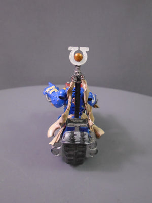Ultramarines Commander on bike