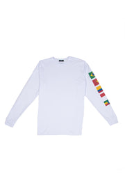 WHITE CAFE FLAG LONGSLEEVE