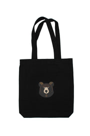 BLACK CARITY TOTE BAG