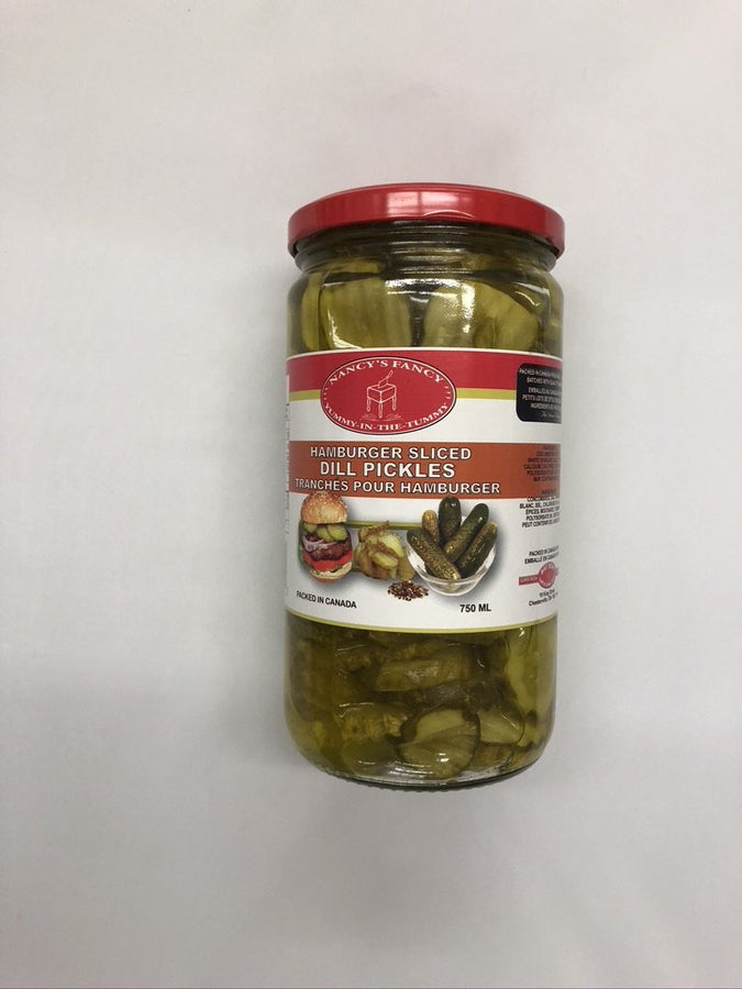 Nancy Fancy Hamburger Sliced Dill Pickles 750 Ml