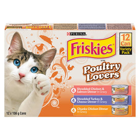 Image of Friskies Poultry Lovers Wet Cat Food Variety Pack 12x156g