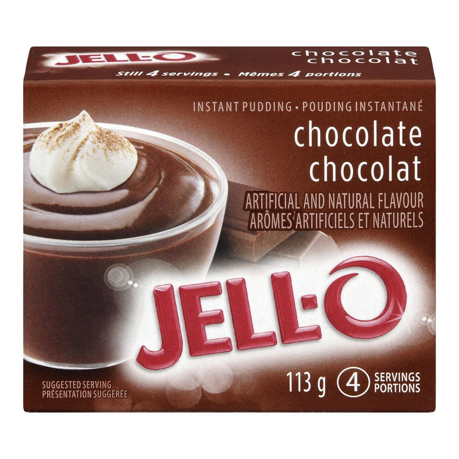 Jello Instant Pudding Chocolate 4 Servings 113 G
