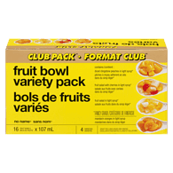 No Name Club Size Fruit Bowl Variety Pack 16X107Ml
