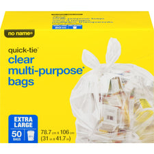 Image of No Name Multi-Purpose Extra Large Bags Clear 50Pk