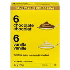 Image of No Name Club Size Choc Van Puddings 12X99G
