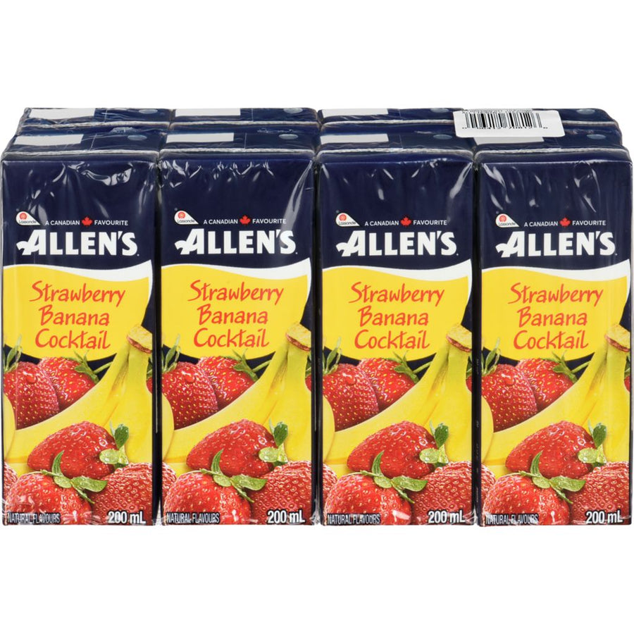 Allens Strawberry Banana Cocktail8X200Ml