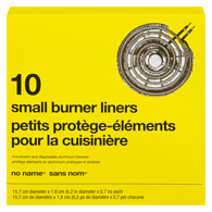 Image of No Name Electric Burner Liners 10Pk 150 G